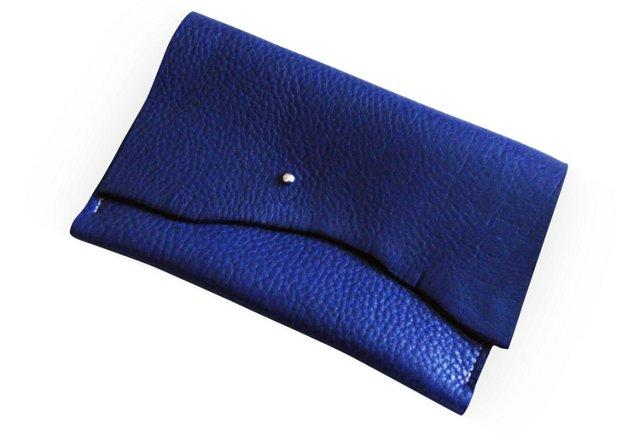 Leather iPad Mini Cover, Indigo Blue