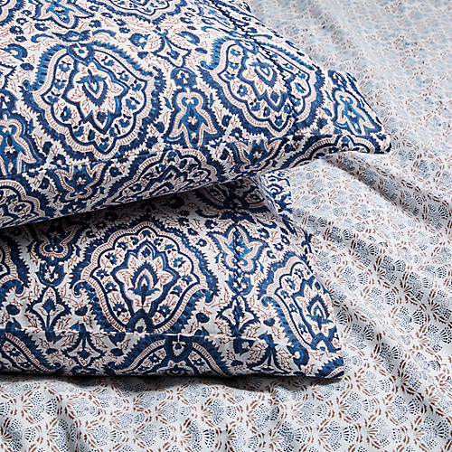 S/2 Maggie Pillowcases, Deep Navy
