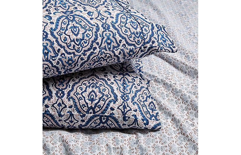 S/2 Maggie Pillowcases, Deep Navy