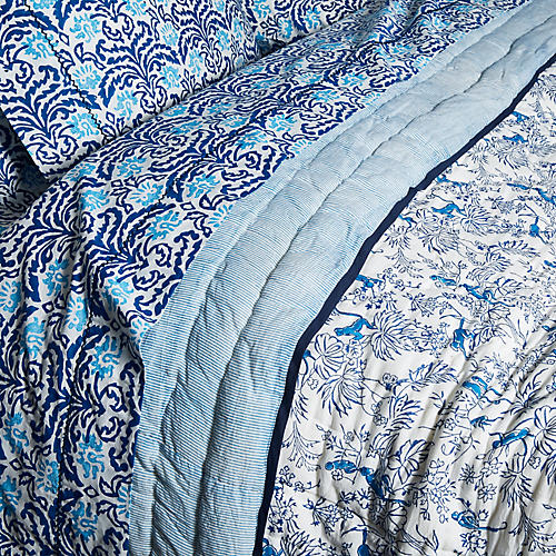 Charlie Quilt, Bright Blue