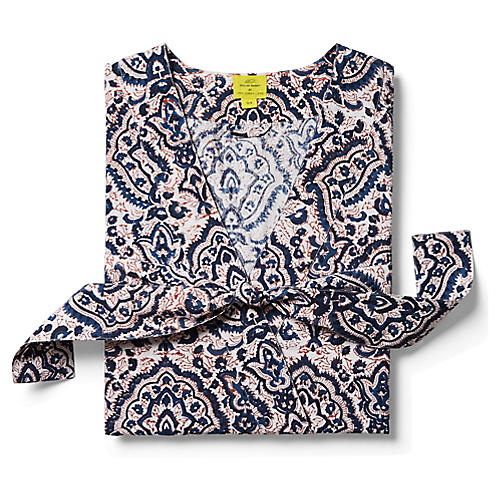 Maggie Short Cotton Kimono, Deep Navy