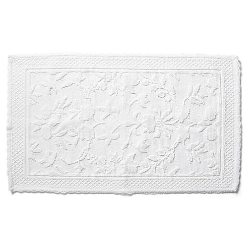 Scroll Tub Mat, White