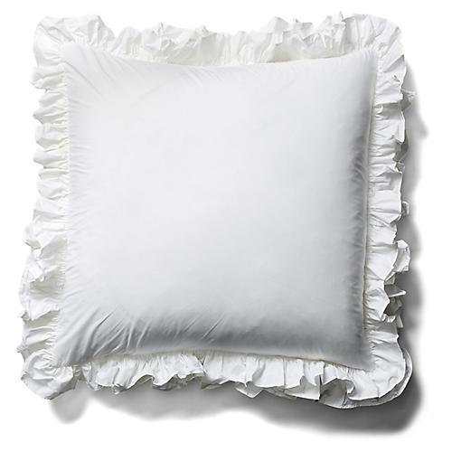 Liliput Ruffle Euro Sham, White