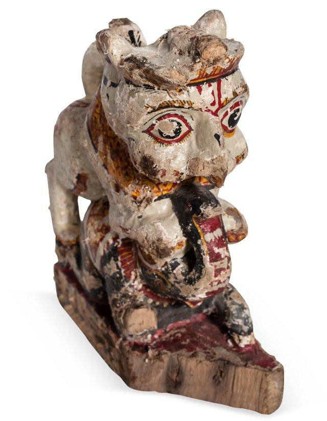 Lion Chariot Ornament IV