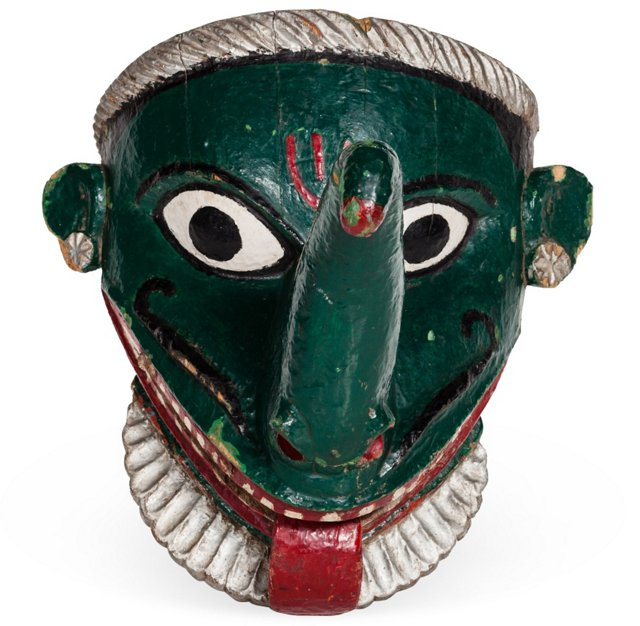 Green Ganesha Mask