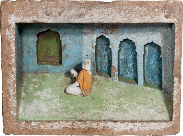 Jain Temple Panel, In Prayer