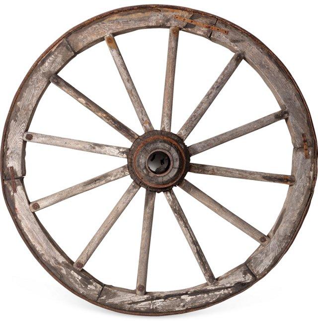 19th-C. Wagon Wheel I