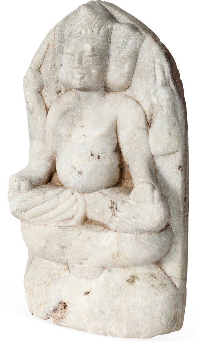 Marble Brahma Statue III