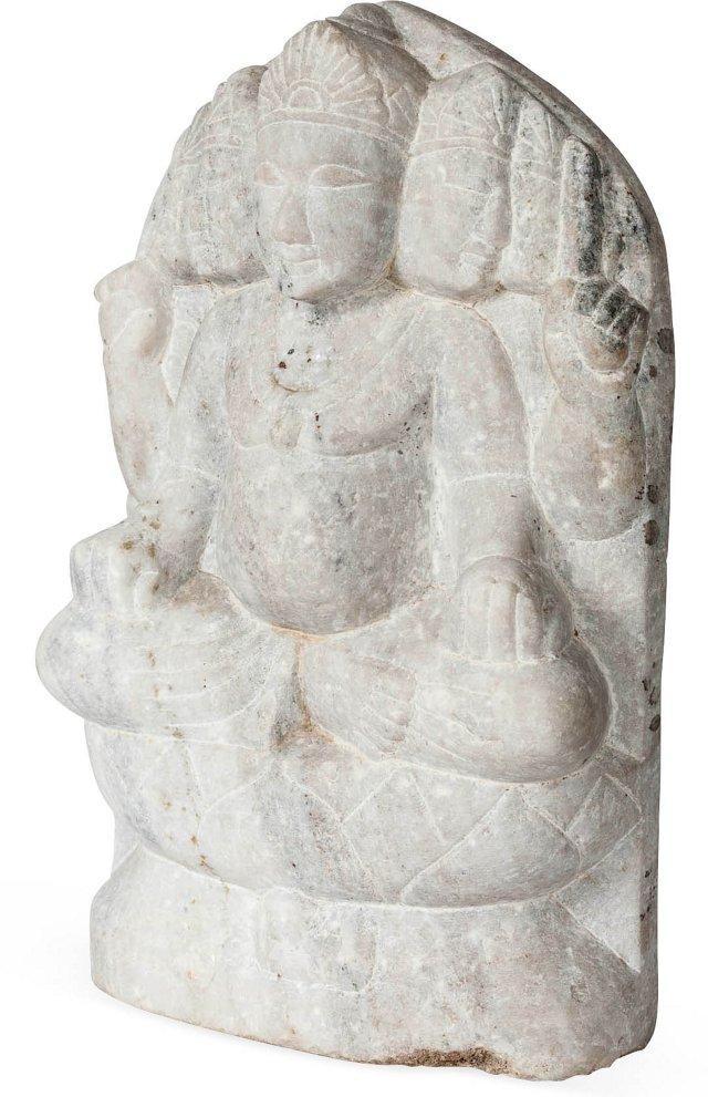 Marble Brahma Statue IV