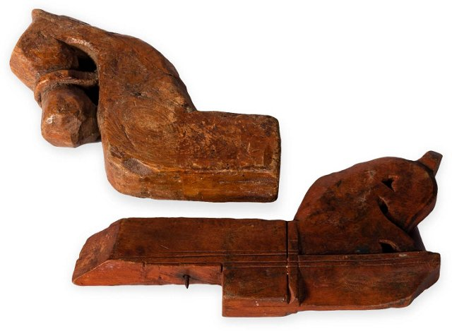 19th-C. Chest Fragments, Set of 2
