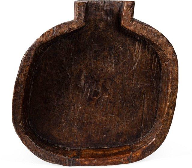 19th-C. Large Wood Bowl II