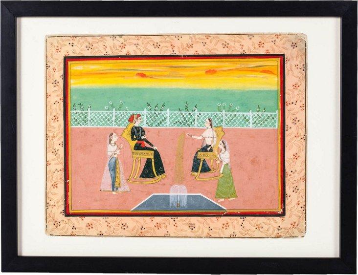 Maharaja in Garden Painting