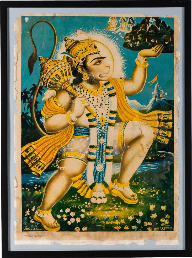 Vintage Print of Hanuman