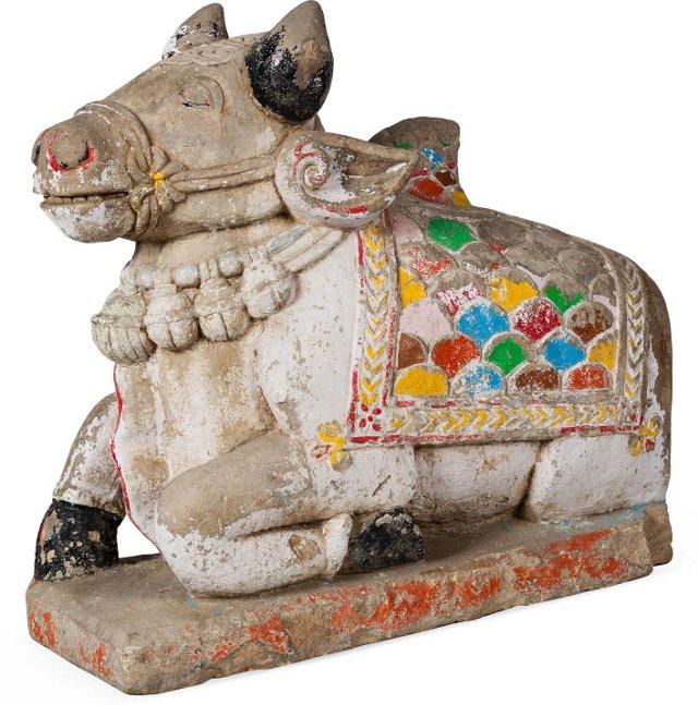 18th-C. Stone Nandi Bull