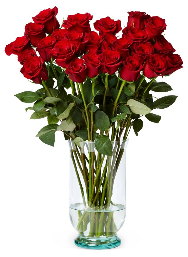 50 Premium Long Stem Roses, Red