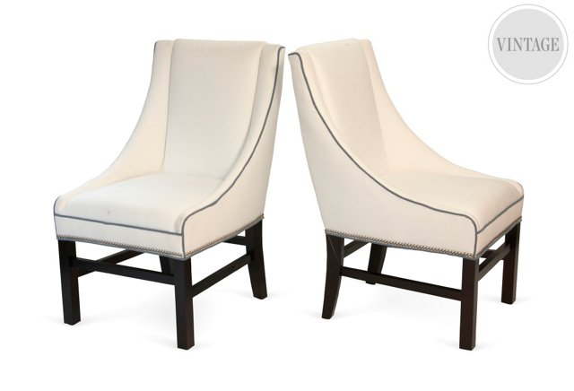 Occasional Chairs, Pair