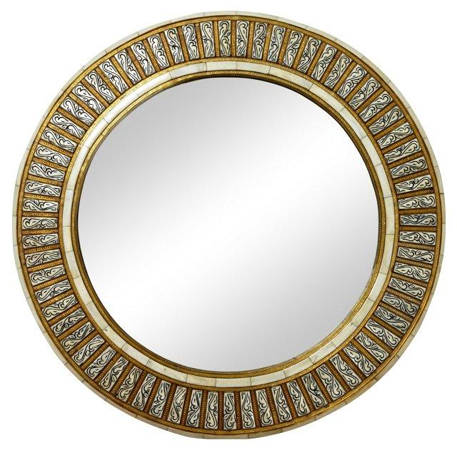 Moroccan Bone Mirror