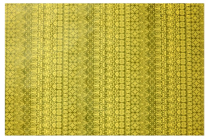 S/5 Graphic Gift Wrap, Green/Olive