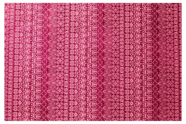 S/5 Graphic Gift Wrap, Pink/Magenta