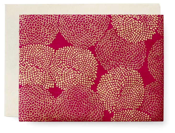 S/10 Mums Cards, Fuchsia