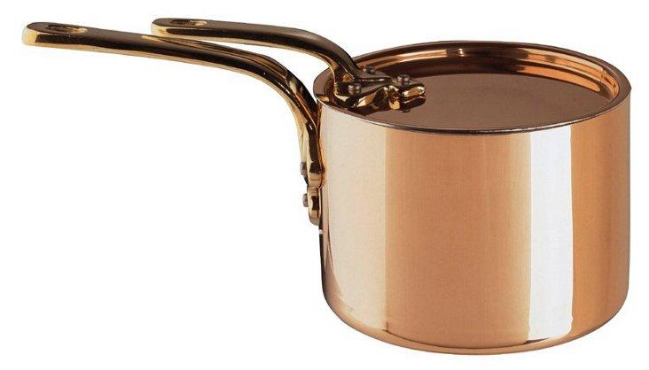 Copper Saucepan w/ Lid, 2 Qt