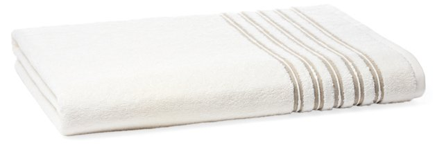 French Knot Bath Sheet, Ivory