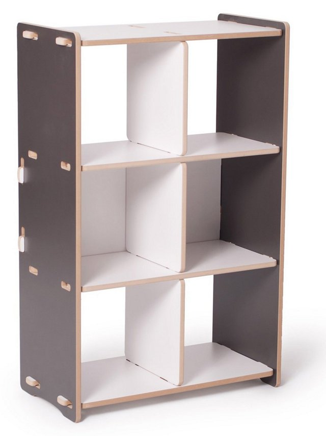 Recyclable Cubby Shelf, Gray