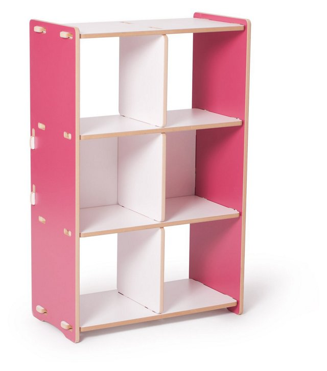 Recyclable Cubby Shelf, Pink