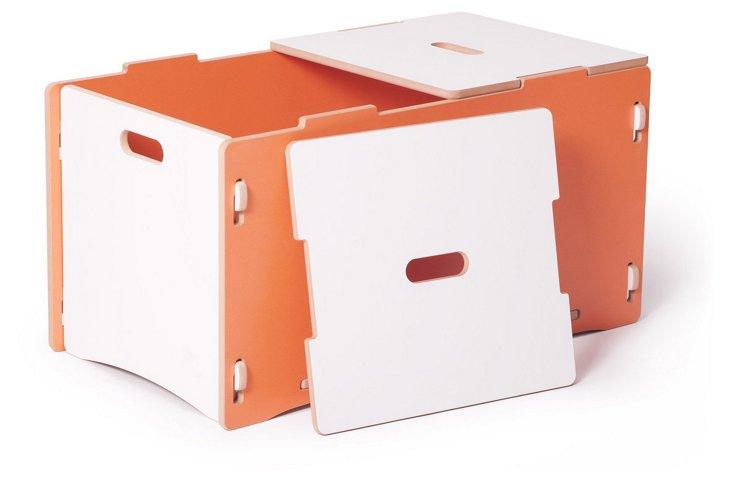 Recyclable Toy Box, Orange