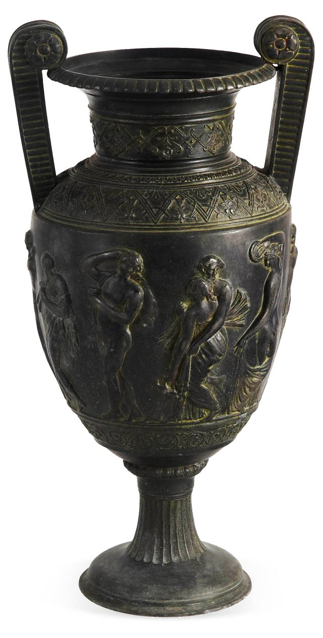 Iron Neoclassical Urn