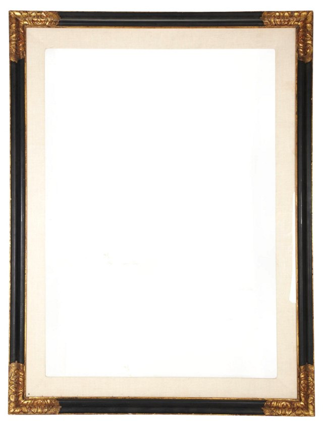 Mirror w/ Gilt Corners