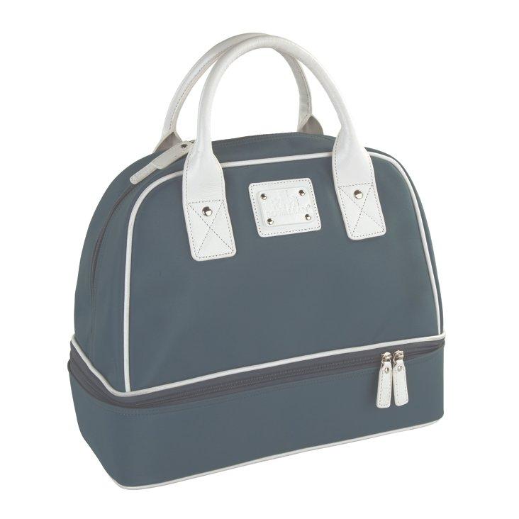 Handbag, Gray/White