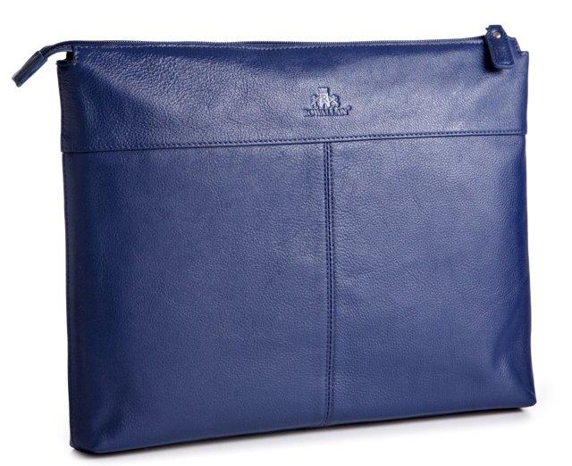 Leather Laptop Folio, Navy