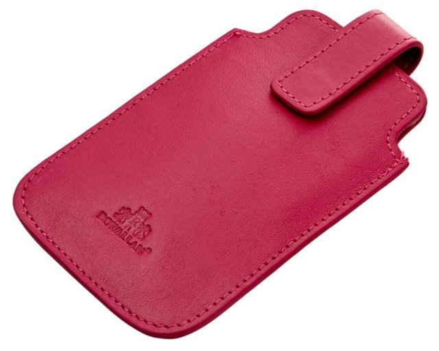 Leather iPhone Sleeve, Raspberry