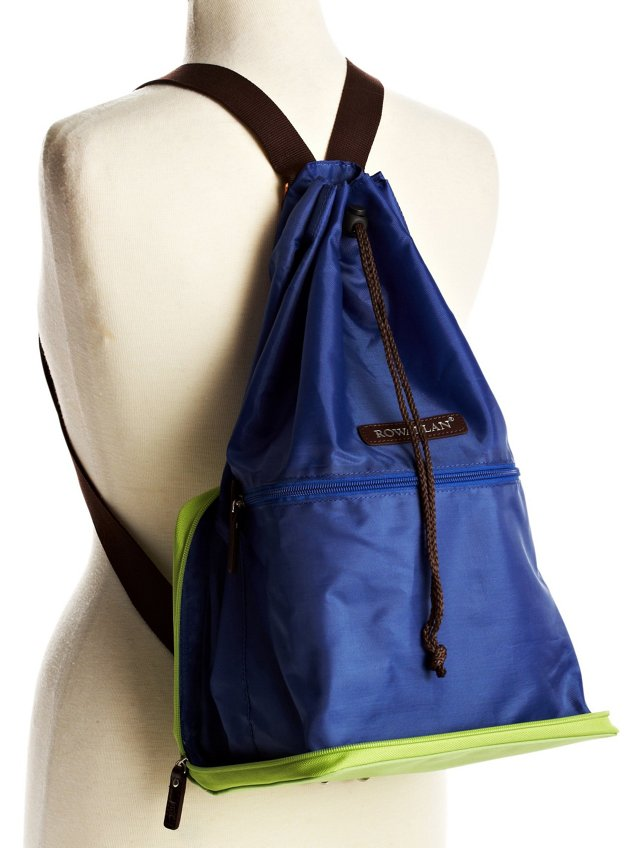 Zip-Out Backpack, Green/Blue
