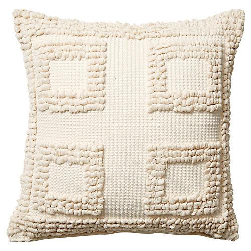 Monterey V 18x18 Pillow, Cream