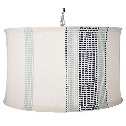 Suffolk Slipcover Pendant, Navy/Turquoise