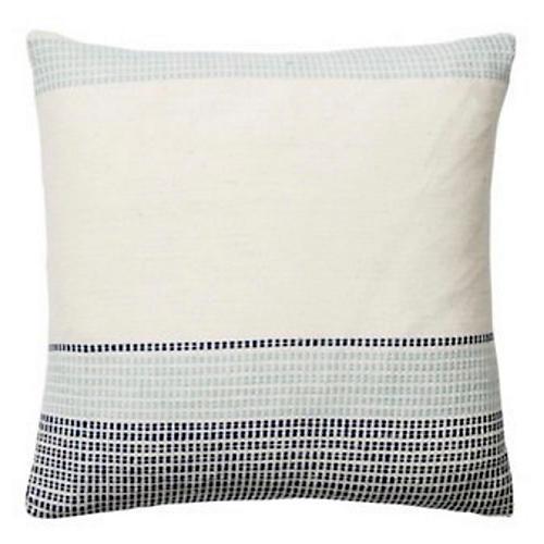 Capri II 18x18 Pillow, Cream/Navy