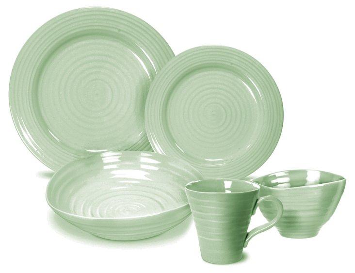 20-Pc Tableware Set, Sage