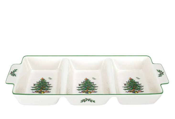 Spode Christmas Tree 3-Section Tray