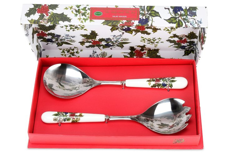 Holly & Ivy Salad Servers