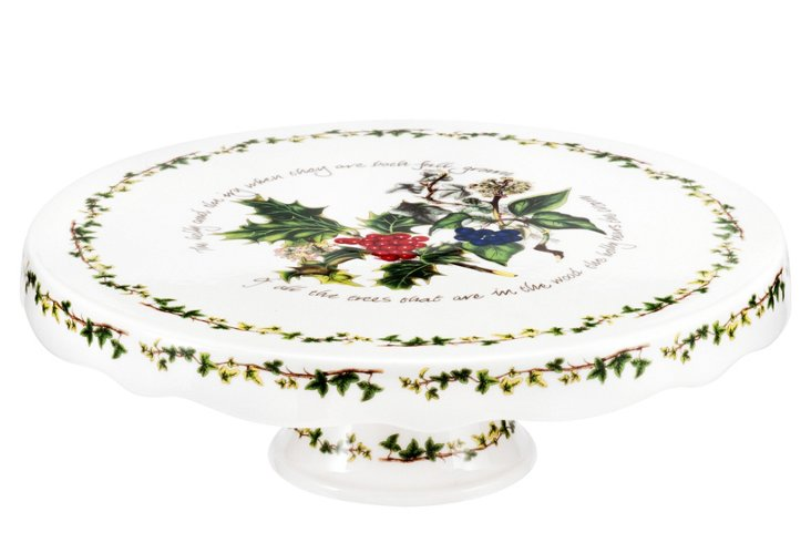 Holly & Ivy Footed Cake Stand