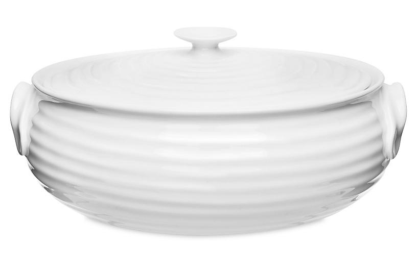 Small Sophie Conran Oval Covered Casserole, White