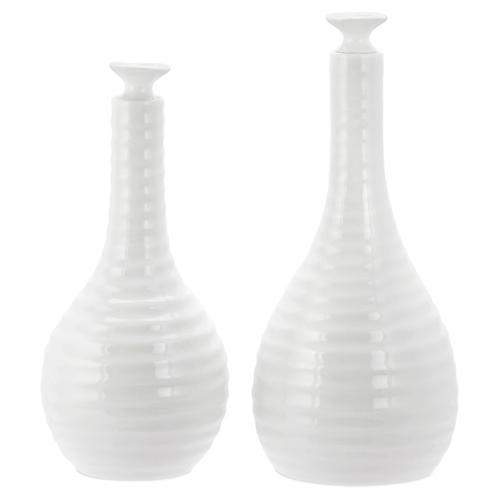 S/2 Sophie Conran Oil & Vinegar Set, White