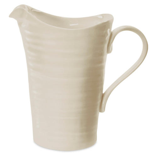 Porcelain Pitcher/Jug, Beige