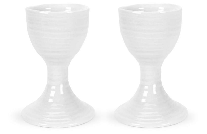 S/2 Sophie Conran Egg Cups, White