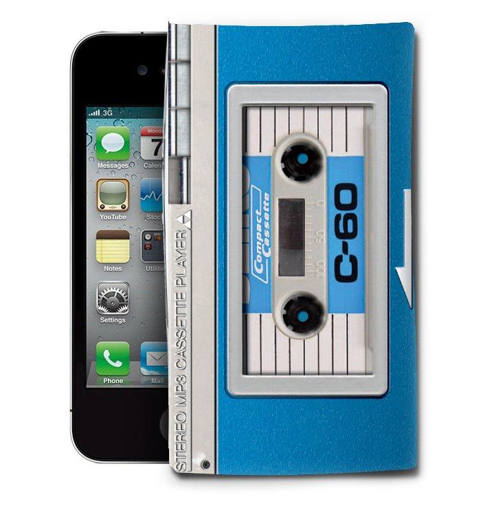 Audio Retro iPhone 4/4S Case, Blue