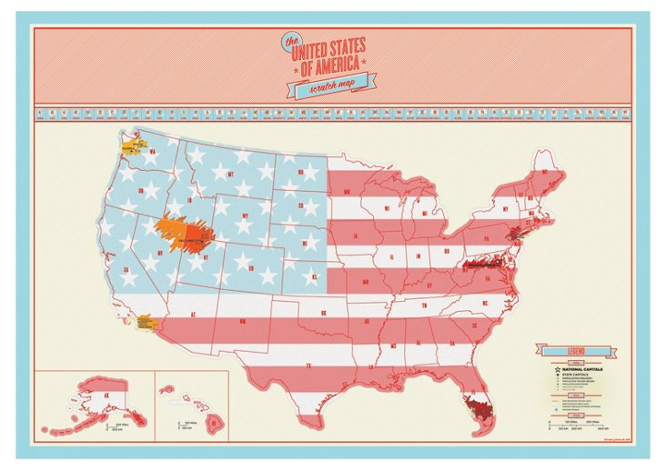 Scratch Map US Edition