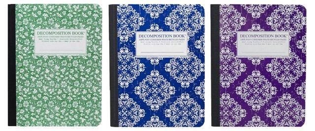 S/3 Notebooks, Parsley/Blue/Purple