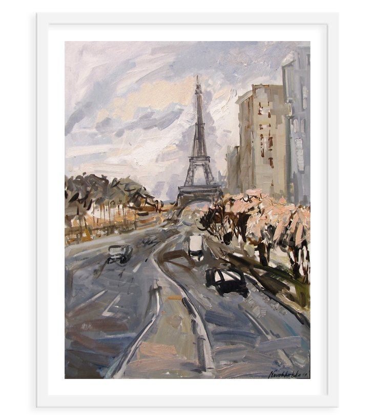 Cityscape with Eiffel Tower